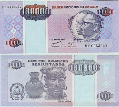 ANGOLA 100,000 Kwanzas (1995) Pick 139, Uncirculated  *RARE*