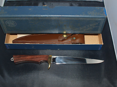 Vintage Smith and Wesson - Blackie Collins Fixed Blade Knife - Mint in Box