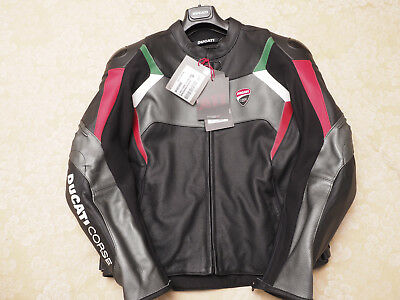 Ducati Corse C3 Leather Jacket Size 50 Perforated NWT