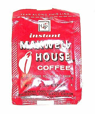 Vintage Maxwell House Coffee Packet Full Sample Size NOS Can Pot No Risk Offer