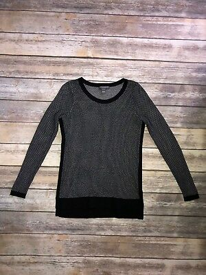 A Pea In The Pod Maternity Sweater Sweatshirt Black White Size S