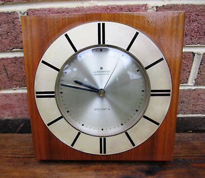 Junghans Wall Clock Mid Century Modern Working Rare Germany