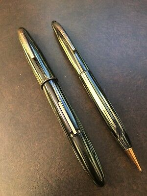 Vintage Sheaffer Fountain Pen with 14K Gold Nib and Matching Pencil Set