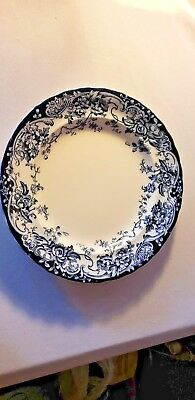 Antique 1886 Chatsworth Keeling & Co. Flow Blue BOWL PLATE 9.5""