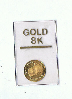8K Mini Gold Coin Krugerand Design Sealed In Packet