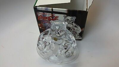 Coca Cola Lead Crystal Polar Bear Figurine - Nib