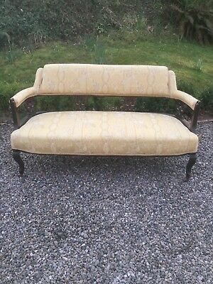 Antique Upholstered Sofa / Settee