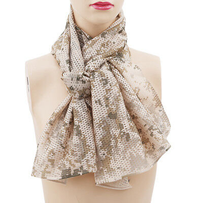 Ladies Girls Mens Boys Novelty  Military Scarf Camouflage Print Scarves 6A
