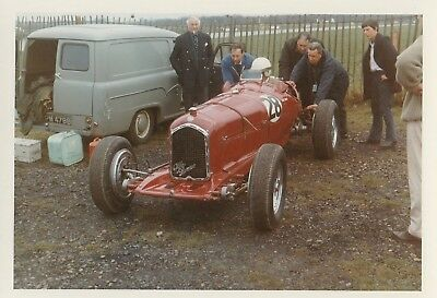 ALFA ROMEO CAR No.28 SINGLE SEATER IN PADDOCK COLOUR PHOTOGRAPH, DATED MAY68.