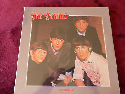Beatles Three Record Set Live / Silver Picture Cover