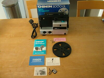 Superb Chinon 2000GL Duel Cine Film Movie Projector Standard & Super 8mm