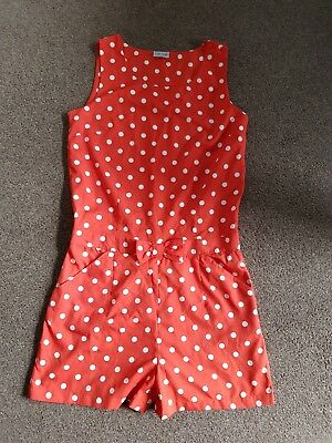 Next red spotted playsuit - size 15 years