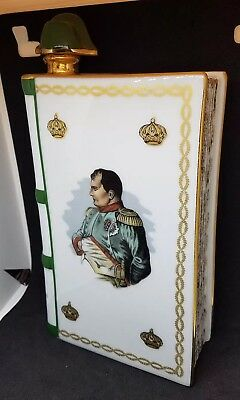 Camus Napoleon Cognac Collector's Book Bottle Limoges Stunning Condition