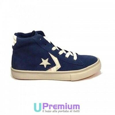 Converse Pro Leather Ankle boot Blue White ORIGINAL ITALIE 2018 Man Woman