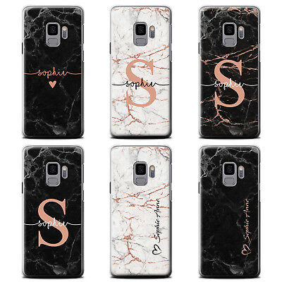 Personalized Rose Gold Endless Marble Phone Case For Samsung Galaxy Hard Cover