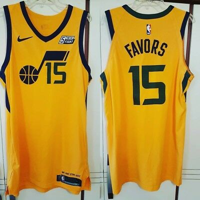 Derrick Favors 2017-18 Utah Jazz Nike Statement Game Worn Used Jersey w   Meigray fe2a92666