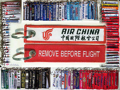 Keyring XIAMEN AIR Airlines China Remove Before Flight tag keychain