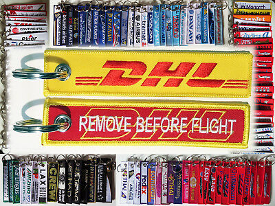 Keyring DHL Aviation Remove Before Flight keychain for pilot