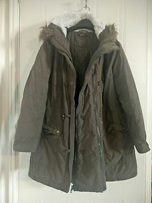 George Maternity Green Parker Coat Size 18