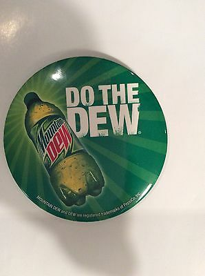 "NEW Mountain Dew 3"" Round Metal Pin Button Do The Dew Rare HTF. Soda  Pop Drink"