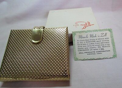 Vintage ZELL Miracle Mesh Wallet Style ID, Credit Card, Picture Holder MIB