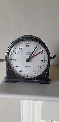 Vintage Art Deco Style Smiths- English Clock Industrial Stop Clock / Timer