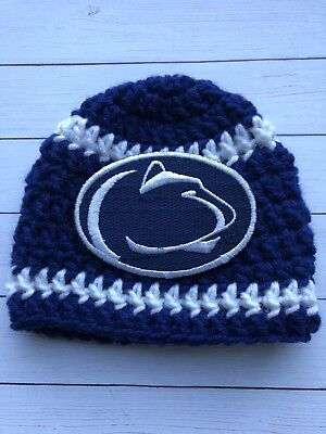 the best attitude 72605 4ce8e 15.00 672ae dce27  shopping penn state lions psu ny handmade crochet baby  hat 0 3 months d7198 1d158