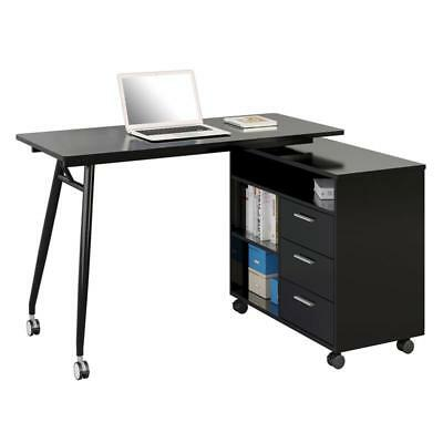 SixBros. Computertisch Computerschreibtisch Home Office Schwarz CT-3366UAM/2179