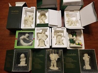 Lot of 10 Department 56 Snowbabies with original boxes