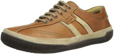 Men's Lotus Cheltenham Tan Brown Leather Lace Up Trainers Shoes UK 7