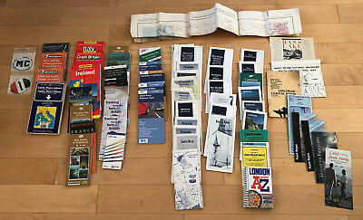 LOT Vintage Maps Europe California San Francisco Michelin Rand McNally AAA & Mor