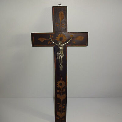 Old Kruxifix cross Wooden cross Approx. 19 11/16in Carved Carving