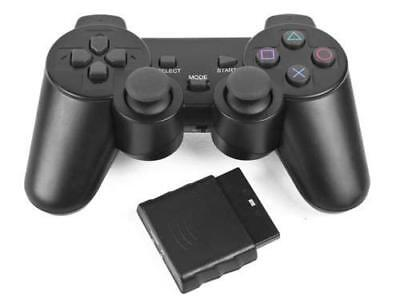Black Wireless Dual Shock Controller for PS2 PlayStation 2 Joypad Gamepad - NEW