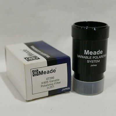 Meade Instruments 07286 No.905 1.25-Inch Variable Polarizing Filter Black in Box