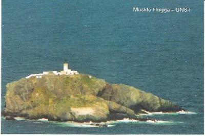Muckle Flugga, Unst, Shetland - lighthouse - local postcard