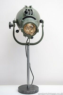 Vintage mid 20th Century British Strand Electric Theatre Spotlight Lamp