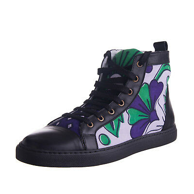 YOU KHANGA Leather Sneakers Size 40 /UK 6 Lace-Up Contrast Made in Italy RRP€255