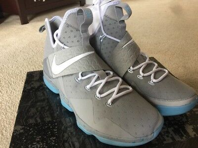 b8c3f86f2f10 Nike LeBron XIV 14 Marty McFly Mag Summer Pack Size12.5 Silver Wht(852405