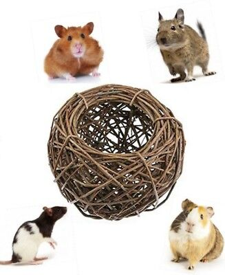 Natures 100% Natural Willow Nesting Nest Basket Nibble Gnaw Toy