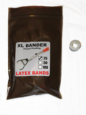 XL Bands 25 Count. Castrate Cattle, Sheep, Goat's.