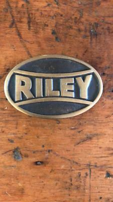Vintage Riley Belt Buckle Anacortes Brass Works 1988 Hand Made Brass