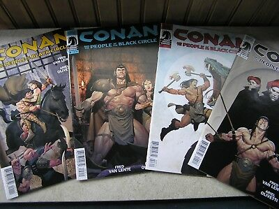 Conan! Dark Horse Conan And The People Of The Black Circle 1-4 Complete Mini! Re