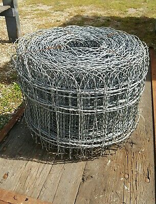 NOS Vintage  Woven Wire Round Top Garden Fence Gate Trellis 100 ft roll x 16""