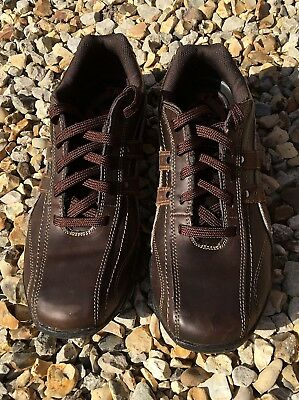 Men's Skechers Fusions Diameter Blake Lace Up Trainers, Brown, size UK 7.5