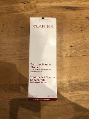 Clarins Tonic Bath and Shower Concentrate 200ml Sealed BNIB UK SELLER