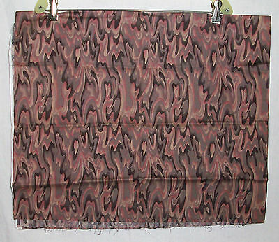 Colorwork Fabricmaker Vintage Abstract Brown Pink Cotton Quilt Fabric 1 yard