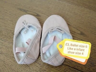 Leather Girls Ballet Shoes Infant Size 5