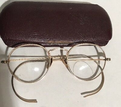 Early Mid 1900s American Optical AO  EYEGLASSES full Round Wire 1/10 12K GF