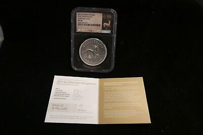 2017 S.africa 50Th Anniversary 1 Oz Silver Krugerrand Coin Ngc Sp 70
