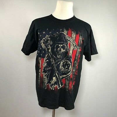 b31c7cd0 SONS OF ANARCHY Men Short Sleeve T-shirt Size Large graphic Tee Top - D67